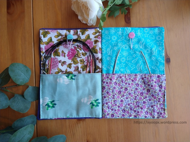knitting needle book second and third pages